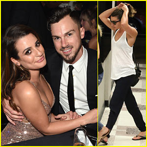 Lea Michele Makes Her First Red Carpet Appearance with Matthew Paetz