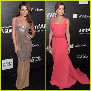 Lea Michele & Camilla Belle Turn Heads at amfAR LA Inspiration Gala 2014