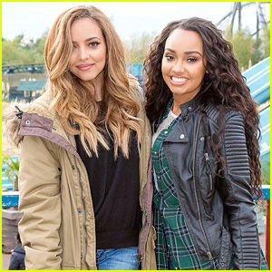 Little Mix Ladies Leigh-Anne Pinnock & Jade Thirwall Ride Roller Coasters Together!