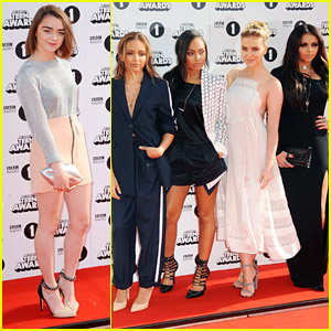 Little Mix & Maisie Williams Glam Up For Radio 1 Teen Awards 2014