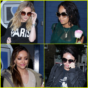Little Mix Takes a Break From Recording to Visit 'X Factor UK'