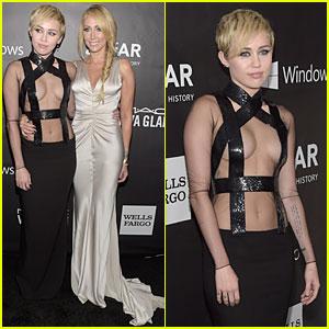 Miley Cyrus Brings Mom Tish to amfAR LA Inspiration Gala