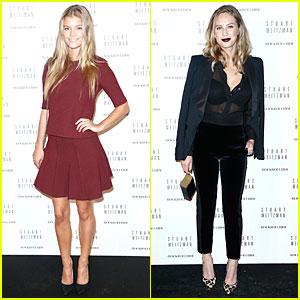 Nina Agdal & Dylan Penn Help Premiere 'RockRollRide' at Stuart Weitzman Cocktail Party