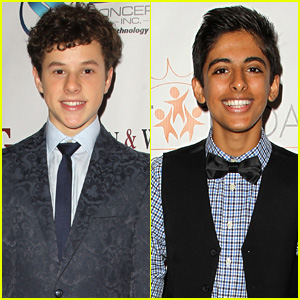 Nolan Gould & Karan Brar Step Out at Denim & Diamonds for Autism Fundraiser