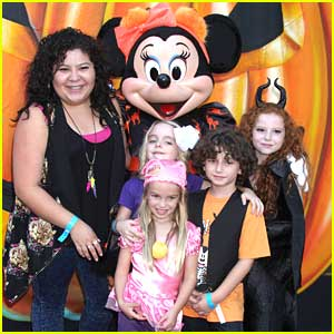 Raini Rodriguez & Rowan Blanchard Get Ready For Halloween at Disney Consumer Product's VIP Event