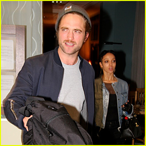 Robert Pattinson Hits Germany with Girlfriend FKA twigs For Her Tour