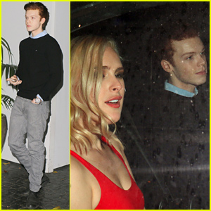 Cameron Monaghan Leaves Chateau Marmont with Rumer Willis