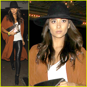 Shay Mitchell Sports Nose Ring For Banks Concert