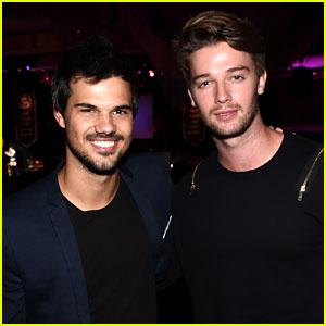 Taylor Lautner Reunites with Patrick Schwarzenegger at Hilarity for Charity!