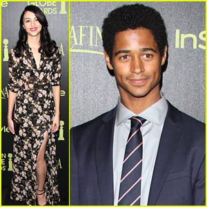Alfie Enoch & Katie Findlay Know 'How To Get Away With Murder' at InStyle's Golden Globe Celebration