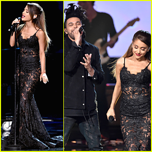 Ariana Grande Strips It Down During AMAs Performance - Watch Now!