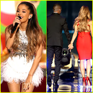 Ariana Grande Holds Hands with Big Sean at Grammy Christmas Show!
