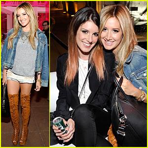 Ashley Tisdale & Shenae Grimes Meet Up at Revolve Pop-Up Launch