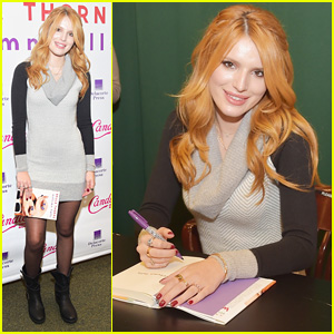 Bella Thorne Brings Pup Kingston Along to Her 'Autumn Falls' Book Signing