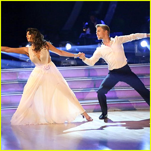 Bethany Mota & Derek Hough Get Elegeant for 'DWTS' Week 9 - See the Pics!
