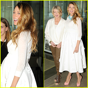 Pregnant Blake Lively Bring Baby Bump to American Made Summit