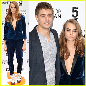 Cara Delevingne & Max Irons Hit Up Topshop Topman Flagship Store Opening