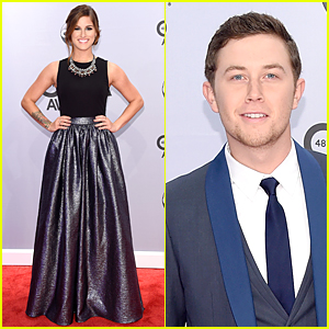 Cassadee Pope & Scotty McCreery Dress Up For CMAs 2014