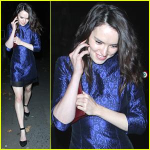 Star Wars' Daisy Ridley Celebrates Wrap Party In London