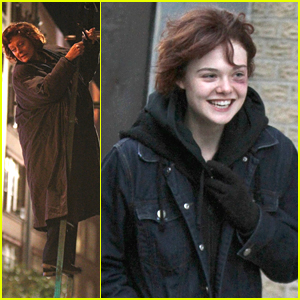 Elle Fanning Helps Susan Saradon Climb A Fire Escape On 'Three Generations' Set