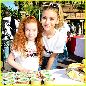 G Hannelius & Francesca Capaldi Give Back With GenerationOn & Disney's Friends For Change