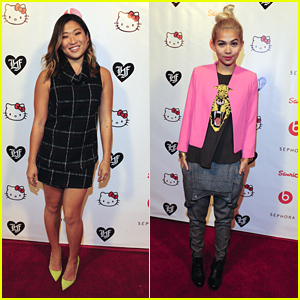 Hayley Kiyoko & Jenna Ushkowitz Party It Up With Hello Kitty