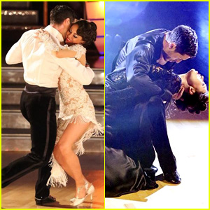 Janel Parrish & Val Chmerkovskiy Continue to Get Close on 'DWTS' - See the Pics!