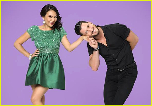 Binge Watch All of Janel Parrish & Val Chmerkovskiy's DWTS Dances Ahead of The Finals!