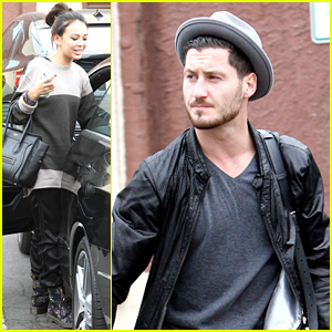 Janel Parrish & Val Chmerkovskiy Are Halloween Party Ready After Practice