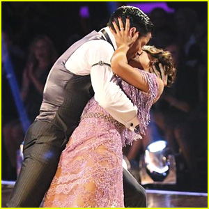 Janel Parrish & Val Chmerkovskiy Smooch During 'DWTS' Week 9 - See the Pics!