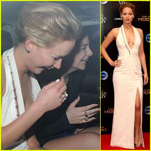 Jennifer Lawrence & Lorde Leave 'Mockingjay' Party Together