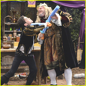 Cameron Boyce & Kevin Chamberlin Have The Best Sword Fight Ever on 'Jessie'
