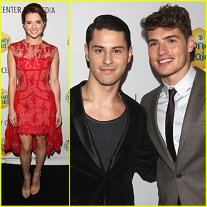 Katie Stevens & Gregg Sulkin Leave Their 'Faking It' Love Triangle At Home For Paleyfest