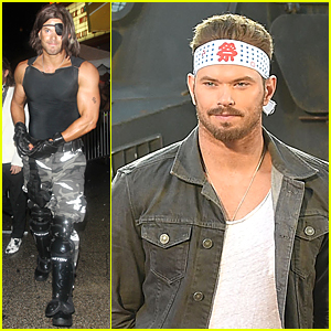 Kellan Lutz Flaunts Muscles For Halloween Party