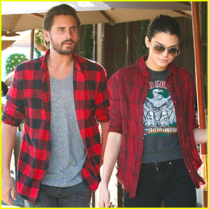 Kendall Jenner & Scott Disick Wear Matching Red Flannel Shirts
