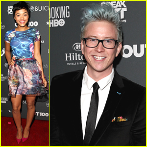 Tyler Oakley & Kiersey Clemons Step Out For Out100 2014!