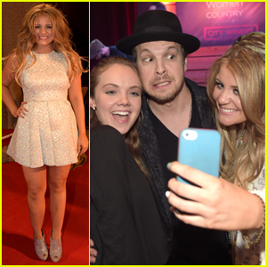 Lauren Alaina Takes the Cutest Selfie with Danielle Bradbery & Gavin Degraw!