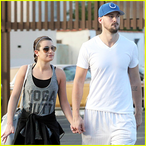 Lea Michele & Her Boyfriend Matthew Paetz Hold Hands After Lunch