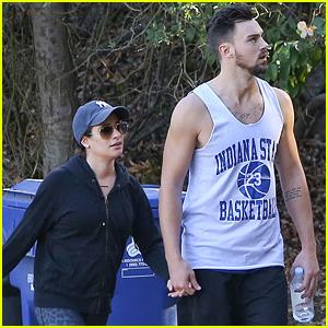 Lea Michele & Matthew Paetz Hike as 'Love is In the Air'