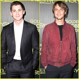 Logan Lerman & Ellar Coltrane Represent Young Hollywood to Celebrate Golden Globes Award Season