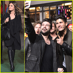 Lucy Hale Meets Dan & Shay During Macy's Thanksgiving Day Parade Rehearsals