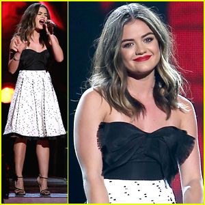 Lucy Hale Brings 'Mistletoe' To CMA's Country Christmas Taping