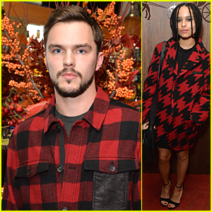Nicholas Hoult & Zoe Kravitz Rock Holiday Red at Coach Thanksgiving Dinner