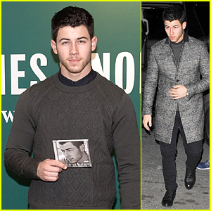 Nick Jonas Helps Fans Brave Chilly NYC Weather