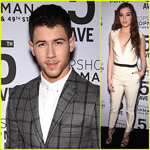 Nick Jonas & Hailee Steinfeld Dress Up For Topshop Topman Opening Dinner