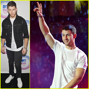 Nick Jonas Performs 'Jealous' in the Rain at MTV EMA 2014 Kick Off!