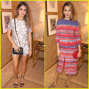 Nikki Reed & Camilla Belle Doll Up For Tory Burch Watch Collection Celebration