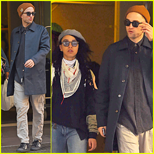 Robert Pattinson & FKA twig Step Out Together Before Her Boston Concert