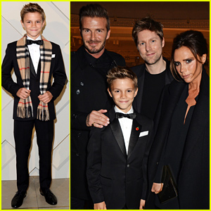 Romeo Beckham Launches His New Burberry Campaign with Mom & Dad's Support!