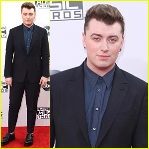 Sam Smith's Skin Looks Flawless Despite Heat Before American Music Awards 2014